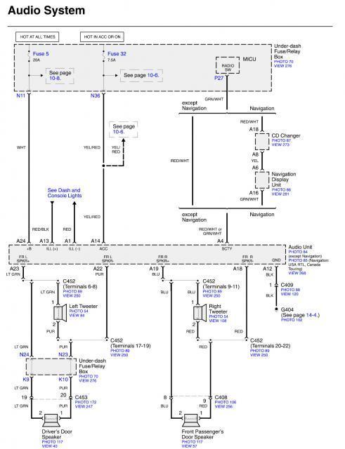 Factory Stereo Wiring Diagram Plz Honda Ridgeline Owners Club Forums