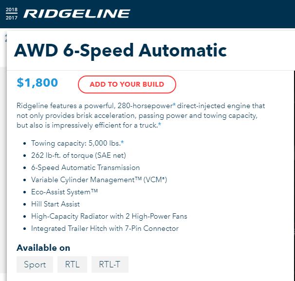 Image Result For Honda Ridgeline Rts Vs Rtl