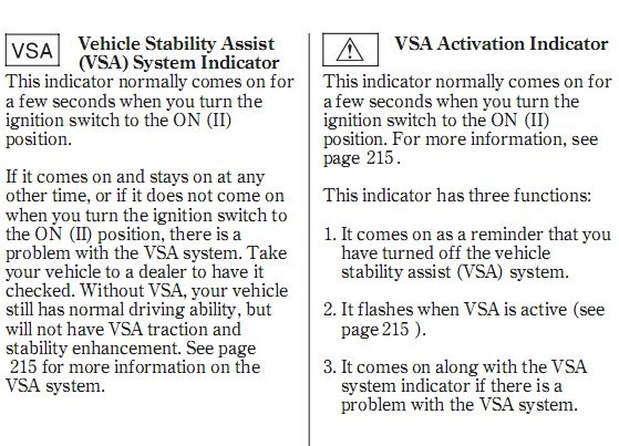 Acura Tl Check Engine Light And Vsa