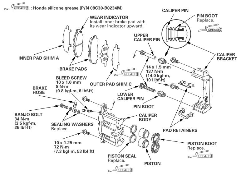 front brake assembly: