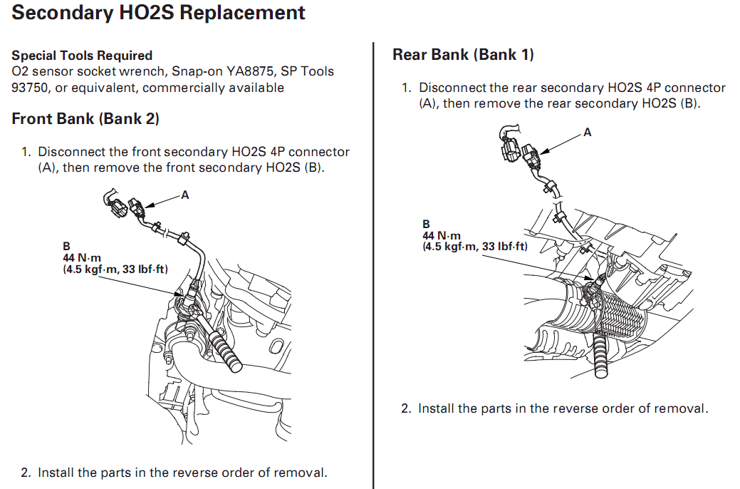 PO138 code, bank1 sensor2 | Honda Ridgeline Owners Club Forums