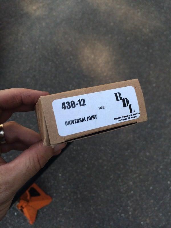 U-joints in RL driveshaft are replaceable   Honda Ridgeline