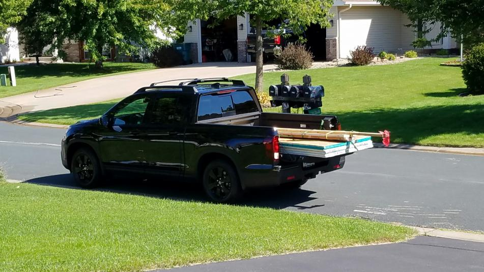 Image result for ridgeline carrying plywood